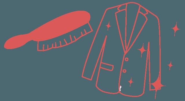 スーツ ブラシ