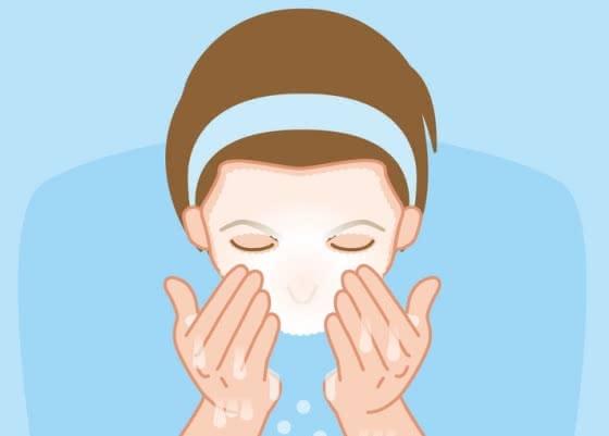 メンズ, 洗顔