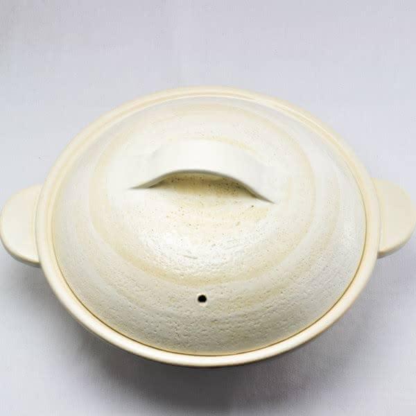 伊賀土鍋 京型(粉引)の写真