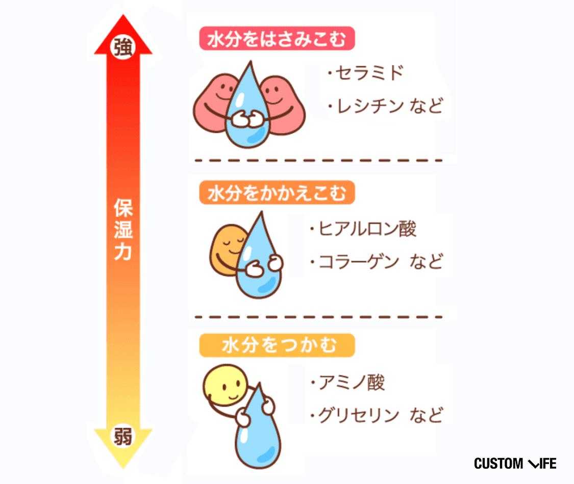 保湿力の高い成分
