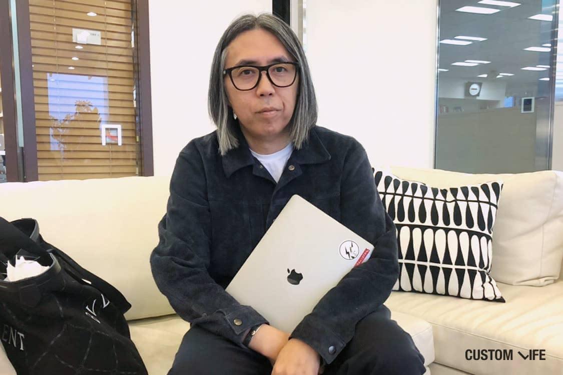 藤原ヒロシさんとMacBook Pro