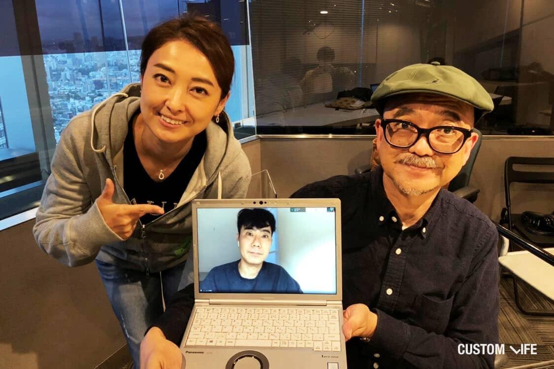 ラジオドーナツMCの渡辺さん山田さんと、ゲスト・藤井隆さん