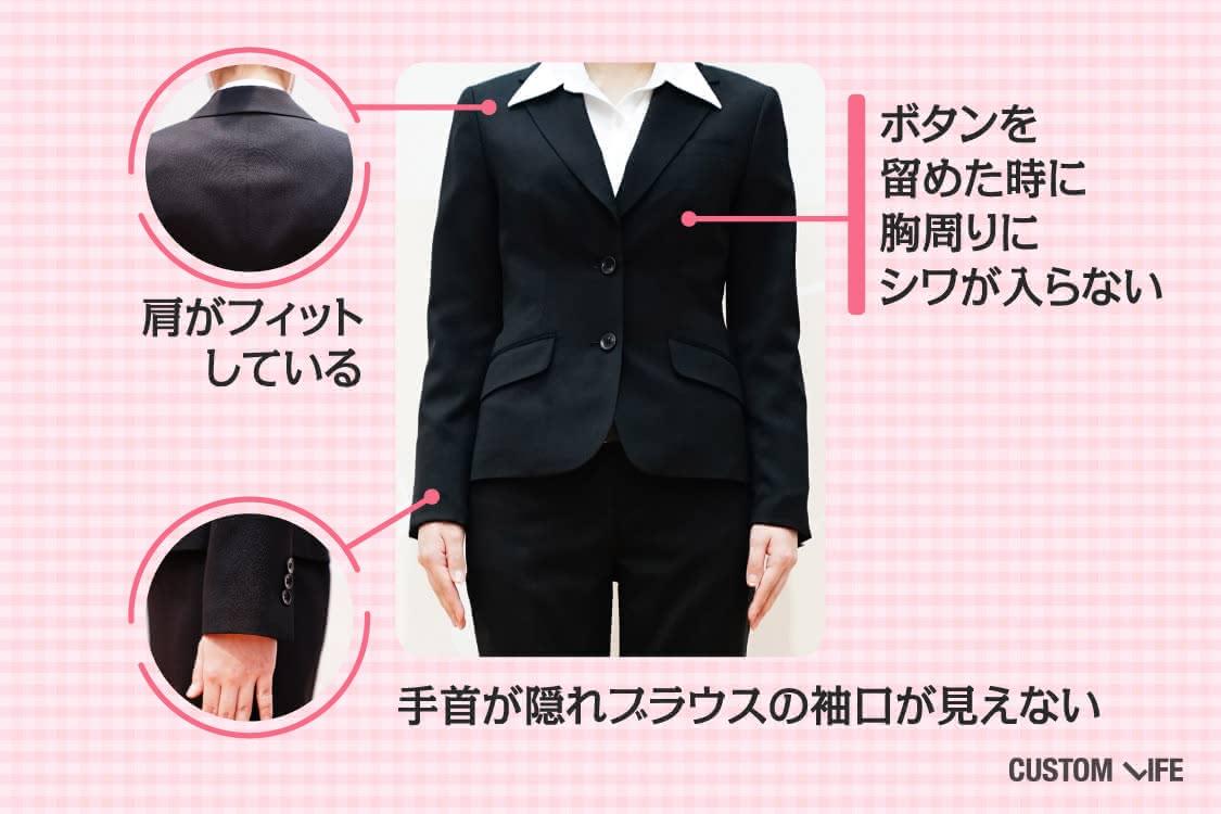 ジャケットのサイズ感を説明