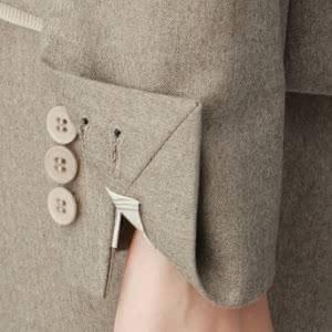 袖口のボタンの画像
