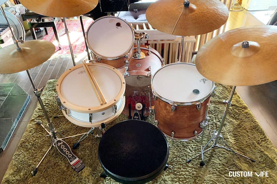 大橋トリオさんの私物のドラムセット