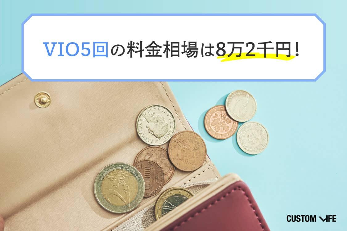 VIO5回の料金相場は8万2千円