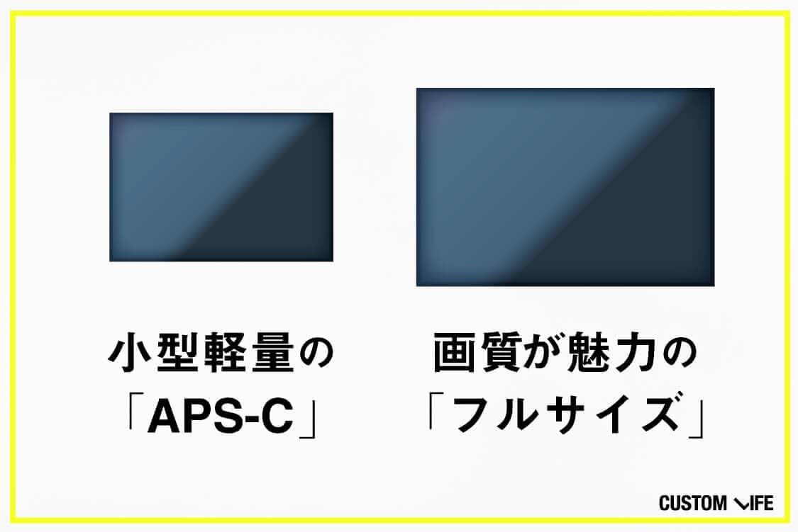 小型軽量のAPS-Cとが画質が魅力のフルサイズ