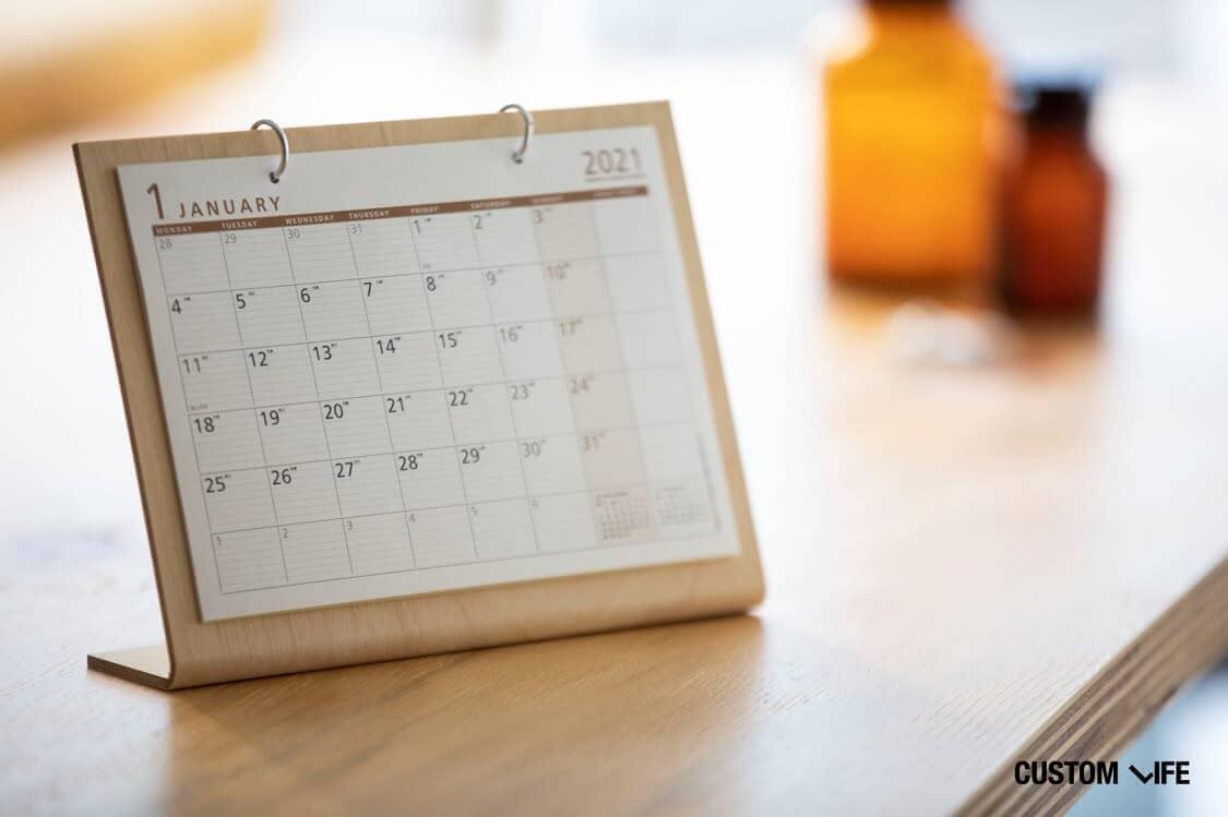 カレンダーと薬