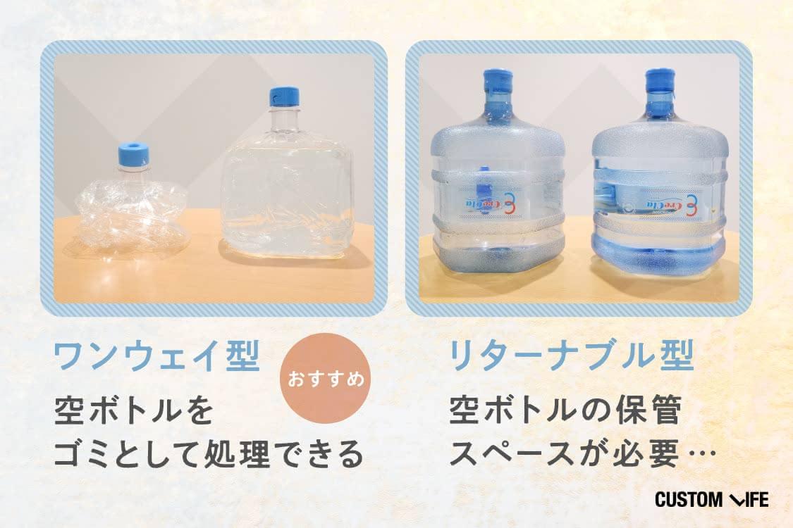 空ボトルをゴミとして処理できるワンウェイ型がおすすめ