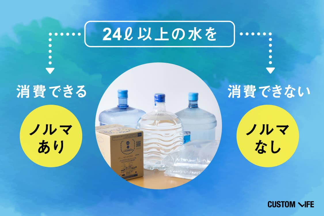 24L以上の水を消費できるかがノルマを選ぶコツ