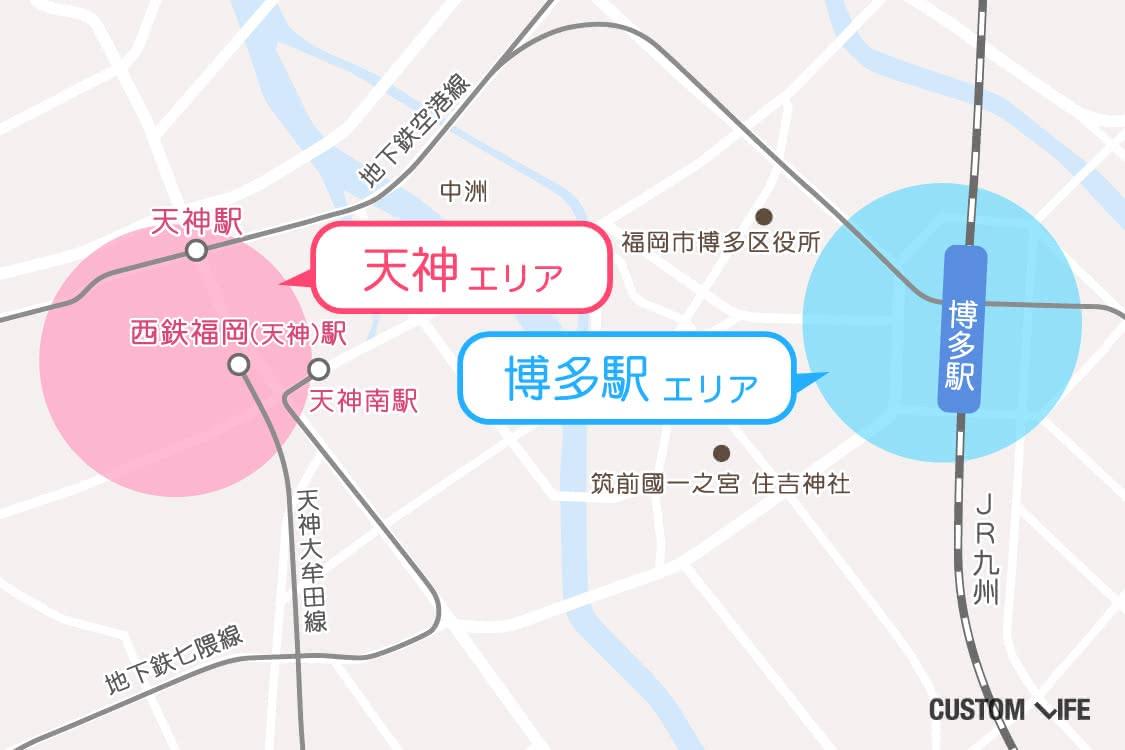 福岡の脱毛店マップ