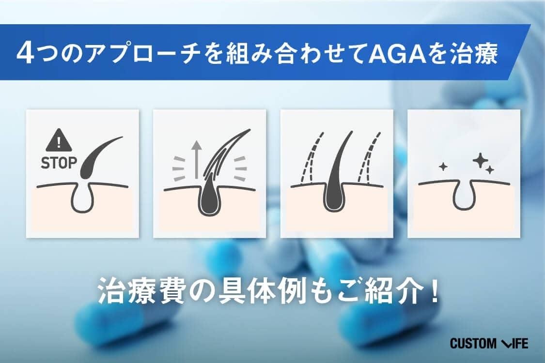 4つのアプローチを組み合わせてAGAを治療
