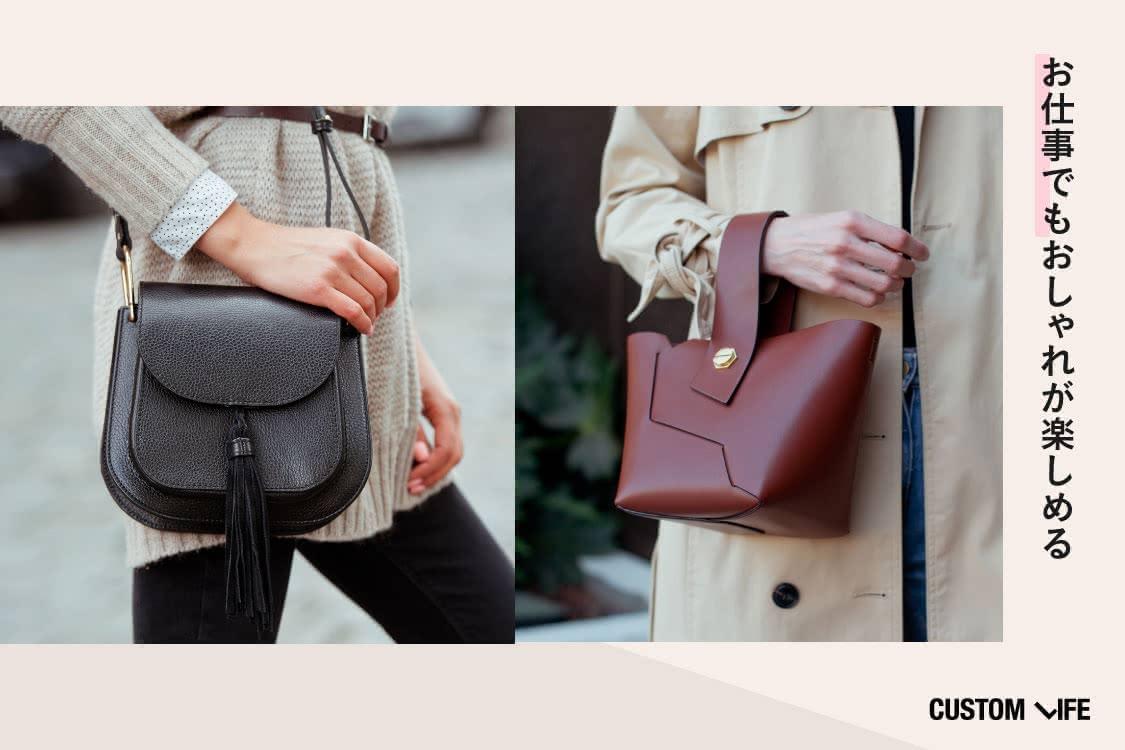バッグを持った女性が並んでいる画像